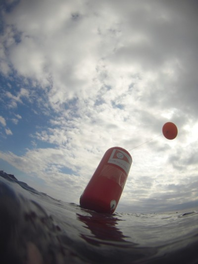 Boya con globo de helio
