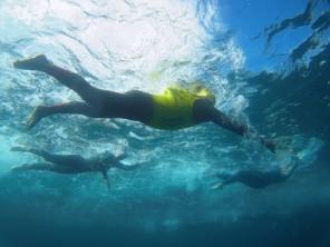 Angel Swimmer en acción