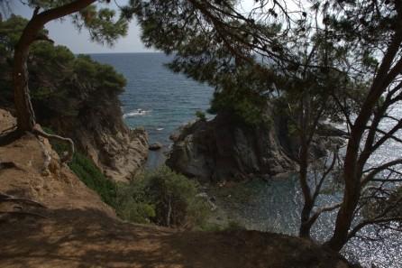 Tramo Fenals-Santa Cristina, desde el camino de ronda