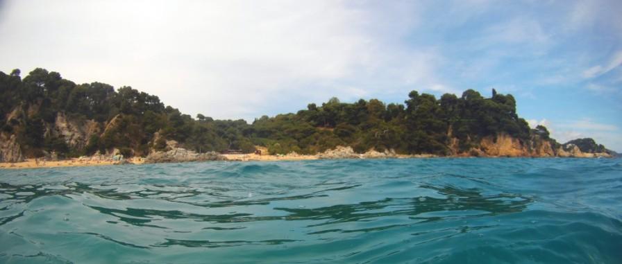 Cala Boadella, desde el mar