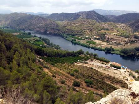 El río un poco más arriba, desde el mirador de Benifallet