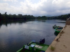 Las barcas en las que iban los árbitros