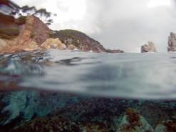 ¡Qué gusto nadar en agua transparente!