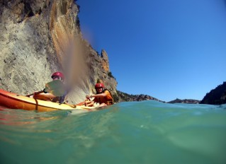 Desde el kayak también se disfruta de lo lindo