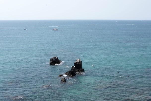 Parte del sendero submarino en La Plagette